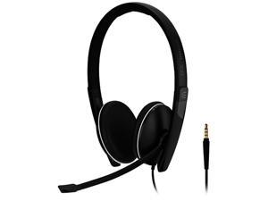 EPOS SC 165 USB (508317) - Double-Sided (Binaural) Headset for Business Professionals | with HD Stereo Sound, Noise-Cancelling Microphone, & USB Connector (Black)