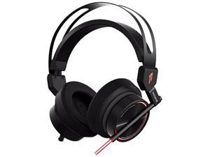 1MORE Spearhead VR Gaming Over-Ear Headphones Comfortable Headset with Super Bass, 7.1 Stereo Surround Sound, Dual Mic Noise Cancellation and LED Light for PC/PS4/XBOX/Smartphones - Black