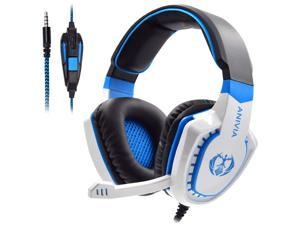PS4 Stereo Headphones, PC Wired Gaming Headset with Mic for Computers, PlayStation 4, Xbox One, Android, iOS, Laptop, Smartphone, Tablet