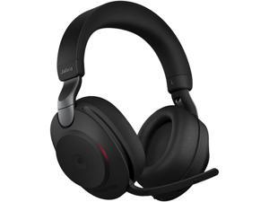 Jabra Evolve2 85 Link380c MS Stereo - Black Wireless Headset / Music Headphones (Microsoft Teams, USB Type-C, Noise-Canceling)