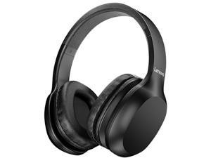 Lenovo HD100 Wireless BT Headset BT5.0 Noise-cancelling Stereo Headset Gaming Headphone for Mobile Phone PC Laptop Black