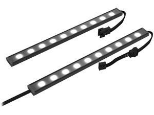 NZXT HUE 2 Underglow Accessory - Two 200mm RGB LED Strips - CAM-Powered - Immersive Desktop Lighting System