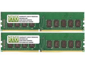NEMIX RAM 64GB 2x32GB DDR4-3200 PC4-25600 2Rx8 ECC Unbuffered Memory