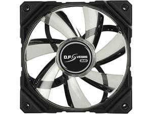 Enermax D.F. VEGAS DUO Duo LED Light 120mm Fan Dust Free Rotation Technology High Technology PWM Speed Control, Black, UCDFVD12P