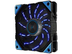 Enermax D.F. VEGAS Blue LED Light 120mm Fan Dust Free Rotation Technology High Technology PWM Speed Control, Black, UCDFV12P-BL