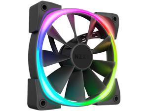 NZXT AER RGB 2 - 120mm - RGB LED - Fluid Dynamic Bearing - PWM Fan for Hue 2 - Twin Pack + Hue 2 Lighting Controller