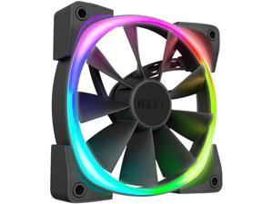 NZXT AER RGB 2 - 140mm - Advanced Lighting Customizations - Winglet Tips - Fluid Dynamic Bearing - LED RGB PWM Fan for Hue 2 - Twin Pack + Hue 2 Lighting Controller, HF-2814C-D1