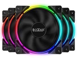 PcCooler CORONA FRGB 5 in 1 KIT Case Fan - 5Pcs 120mm PWM 18LED Addressable RGB Cool Moon FAN with RGB Controller, Super Silent Cool Master Case Fans