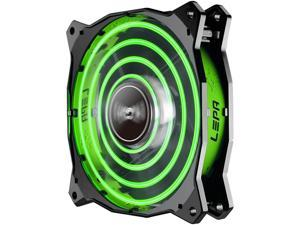 Lepa Chopper Advance 120mm High Performance LED PC Case Fan (Green)