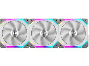 LIAN LI UNI FAN SL120 RGB WHITE  3X 12CM FAN PACK WITH CONTROLLER  ---UF-SL120-3W