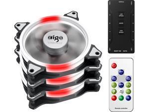Aigo (aigo) octave space C3PRO radiator set computer case fan (120mm/remote control magic color change/mute foot pad/with hub controller)