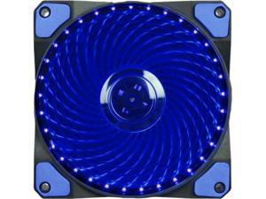 Vicabo 6 Packs 120mm PC Computer 16dB Ultra Silent 33 LEDs Case Fan Heatsink Cooler Cooling w/ Anti-Vibration Rubber, 12CM Fan, 12VDC 3/4pin, Blue LED Lights (6pcs)