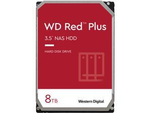 WD Red Plus 8TB NAS Hard Disk Drive - 5400 RPM Class SATA 6Gb/s, CMR, 256MB Cache, 3.5 Inch - WD80EFAX