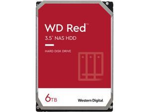"WD Red 6TB NAS Internal Hard Drive - 5400 RPM Class, SATA 6Gb/s, SMR, 256MB Cache, 3.5"" - WD60EFAX"