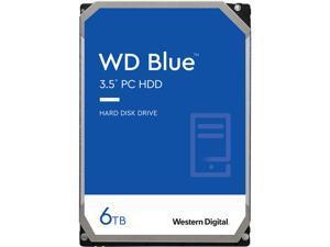 WD Blue 6TB Desktop Hard Disk Drive - 5400 RPM SATA 6Gb/s 256MB Cache 3.5 Inch - WD60EZAZ