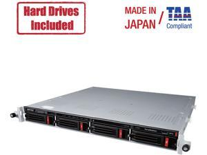 2X4TB SATA NAS HARD DRIVES INCLUDED PARTIALLY POPULATED 4-BAY 1U RACKMOUNT NAS W
