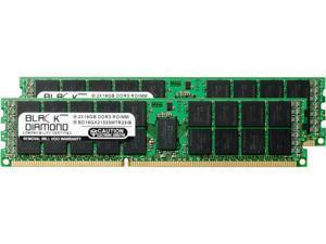 Black Diamond Memory 32GB (2 x 16GB) 240-Pin DDR3 SDRAM DDR3 1333 (PC3 10600) ECC Registered System Specific Memory Model BD16GX21333MTR23IB