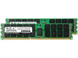 Black Diamond Server Memory 32GB (2 x 16GB) 240-Pin DDR3 SDRAM ECC Registered DDR3 1333 (PC3 10600) Model BD16GX21333MTR23