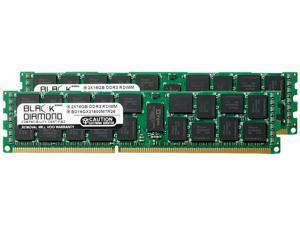 Black Diamond Server Memory 32GB (2 x 16GB) 240-Pin DDR3 SDRAM ECC Registered DDR3 1600 (PC3 12800) Model BD16GX21600MTR26