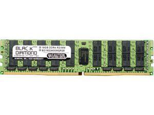 Black Diamond Memory 16GB 288-Pin DDR4 SDRAM ECC Registered DDR4 2400 (PC4 19200) Server Memory Model BD16G2400MQR26