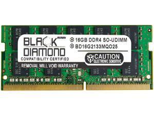 Black Diamond Memory 16GB 260-Pin DDR4 SO-DIMM ECC Unbuffered DDR4 2133 (PC4 17000) Server Memory Model BD16G2133MQO25