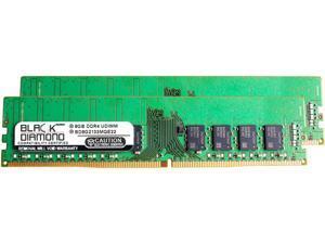 Black Diamond Memory 16GB (2 x 8GB) 288-Pin DDR4 SDRAM ECC Unbuffered DDR4 2133 (PC4 17000) Server Memory Model BD8GX22133MQE22