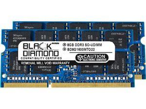 Black Diamond Memory 16GB (2 x 8GB) 204-Pin DDR3 SO-DIMM ECC Unbuffered DDR3 1600 (PC3 12800) Server Memory Model BD8GX21600MTO22