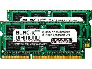 Black Diamond Memory 16GB (2 x 8GB) 204-Pin DDR3 SO-DIMM DDR3 1600 (PC3 12800) Notebook Memory Model BD8GX21600MTN22