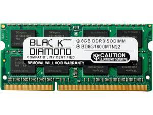 Black Diamond Memory 8GB 204-Pin DDR3 SO-DIMM DDR3 1600 (PC3 12800) Notebook Memory Model BD8G1600MTN22