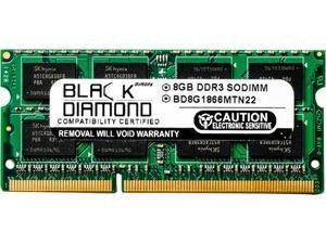 Black Diamond Memory 8GB 204-Pin DDR3 SO-DIMM DDR3 1866 (PC3 14900) Notebook Memory Model BD8G1866MTN22