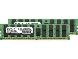 Black Diamond Memory 32GB (2 x 16GB) 288-Pin DDR4 SDRAM ECC Registered DDR4 2666 (PC4 21300) Server Memory Model BD16GX22666MQR26