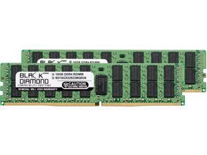 Black Diamond Memory 32GB (2 x 16GB) 288-Pin DDR4 SDRAM ECC Registered DDR4 2933 (PC4 23400) Server Memory Model BD16GX22933MQR26