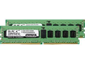 Black Diamond Memory 16GB (2 x 8GB) 288-Pin DDR4 SDRAM ECC Registered DDR4 2666 (PC4 21300) Server Memory Model BD8GX22666MQR26
