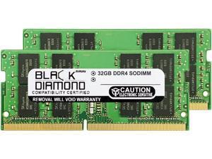 Black Diamond Memory 64GB (2 x 32GB) 260-Pin DDR4 SO-DIMM DDR4 2133 (PC4 17000) Notebook Memory Model BD32GX22133MQN28