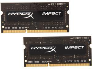 HyperX Impact 8GB (2 x 4GB) 204-Pin DDR3 SO-DIMM DDR3L 1600 (PC3L 12800) Laptop Memory Model HX316LS9IBK2/8