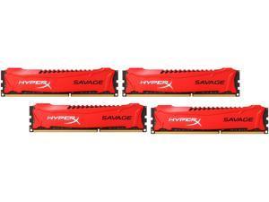 HyperX Savage 32GB (4 x 8GB) 240-Pin DDR3 SDRAM DDR3 1866 (PC3 14900) Desktop Memory Model HX318C9SRK4/32