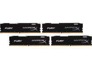 HyperX FURY 32GB (4 x 8GB) 288-Pin DDR4 SDRAM DDR4 2400 (PC4 19200) Unbuffered Compatible with Intel X99 chipset Memory Kit Model HX424C15FBK4/32