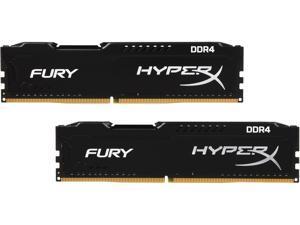 HyperX Fury 8GB (2 x 4GB) DDR4 2400MHz DRAM (Desktop Memory) CL15 1.2V DIMM (288-pin) HX424C15FBK2/8 (Intel XMP, AMD Ryzen)