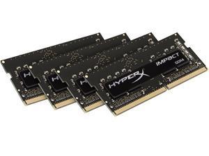 HyperX Impact 32GB (4 x 8GB) 260-Pin DDR4 SO-DIMM DDR4 2400 (PC4 19200) Laptop Memory Model HX424S15IBK4/32