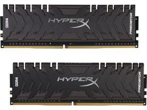 HyperX Predator 16GB (2 x 8GB) DDR4 3200 RAM (Desktop Memory) CL16 XMP Black DIMM (288-Pin) HX432C16PB3K2/16