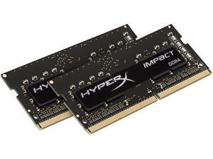 HyperX Impact 16GB (2 x 8GB) DDR4 2666 RAM (Notebook Memory) CL15 XMP SODIMM (260-pin) HX426S15IB2K2/16