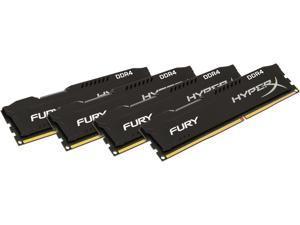 HyperX Fury 64GB (4 x 16GB) DDR4 2666MHz DRAM (Desktop Memory) CL16 1.2V Black DIMM (288-pin) HX426C16FBK4/64 (Intel XMP, AMD Ryzen)