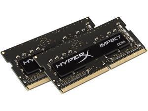 HyperX Impact 16GB (2 x 8GB) DDR4 2400MHz DRAM (Notebook Memory) CL14 1.2V Black SODIMM (260-pin) HX424S14IB2K2/16 (Intel XMP)