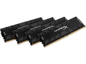 HyperX Predator 64GB (4 x 16GB) DDR4 2666MHz DRAM (Desktop Memory) CL13 1.35V Black DIMM (288-pin) HX426C13PB3K4/64 (Intel XMP)