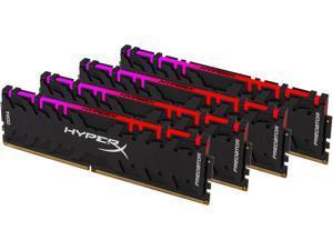 HyperX Predator RGB 32GB (4 x 8GB) 288-Pin DDR4 SDRAM DDR4 2933 (PC4 23400) Desktop Memory Model HX429C15PB3AK4/32
