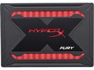 """HyperX Fury RGB SSD Bundle 2.5"""" 480GB SATA III 3D TLC SHFR200B/480G"""