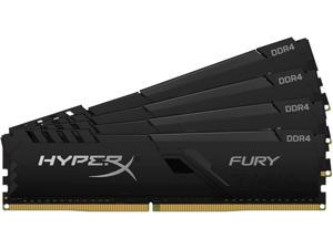 HyperX FURY 64GB (4 x 16GB) 288-Pin DDR4 SDRAM DDR4 3600 (PC4 28800) Intel XMP 2.0 Desktop Memory Model HX436C18FB4K4/64