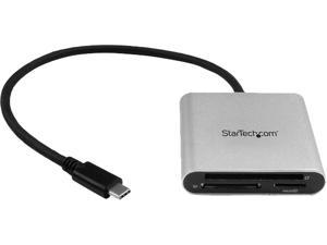StarTech.com FCREADU3C 3-in-1 1 x USB Type-C (24 pin) USB 3.0 Receptacle - 5 Gbit/s USB 3.0 Flash Memory Multi-Card Reader / Writer with USB-C - SD, microSD, CompactFlash