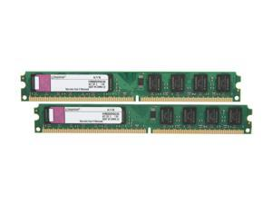 Kingston ValueRAM 4GB (2 x 2GB) 240-Pin DDR2 SDRAM DDR2 800 (PC2 6400) Major Brand Chipset Dual Channel Kit Desktop Memory Model KVR800D2N5K2/4G