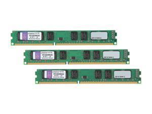 Kingston 6GB (3 x 2GB) 240-Pin DDR3 SDRAM DDR3 1333 (PC3 10600) Triple Channel Kit Desktop Memory Model KVR1333D3N9K3/6G